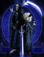 Discworld - Death and Susan by ReverendTrigster