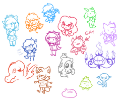 livestream doodle dump by Aruesso