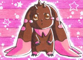 ACEO Digimon Lopmon by LuckyAngelausMexx