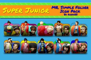 Super Junior Mr. Simple Folder Icon Pack by Rizzie23