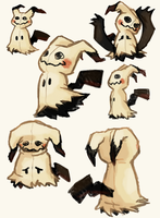 Mimikkyu Doodles by Hot-Gothics