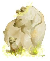 bear mama and cub by muura