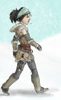 DA2 - Kirkwall Winter by Aelwen