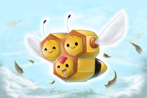 Combee - Shining Forest art by nintendo-jr
