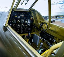 Curtiss P-40B Tomahawk Cockpit by Daniel-Wales-Images