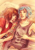 Life is Strange - Max and Chloe - cuddles 2 by Maarika