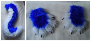 Rave Hound Paws and Tail by CuriousCreatures