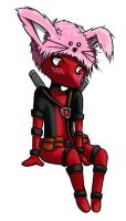 Chibi Deadpool with Bunny cap by DTJames