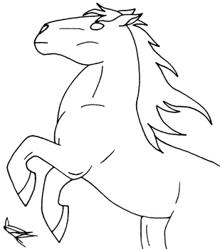 Cartoon Horse lineart by Lady-Autobot17