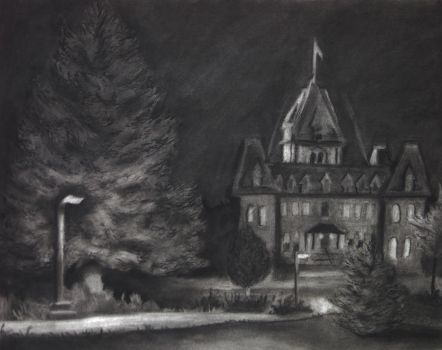 Old Main at Night by ThursdayJay