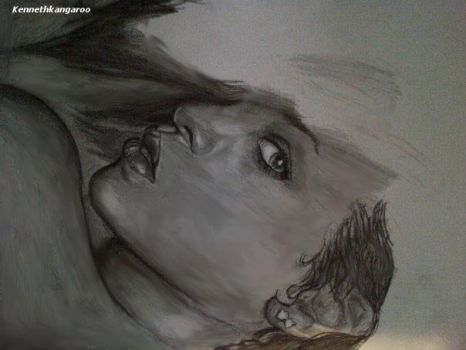Rihanna WIP drawing 2 by kennethkangaroo