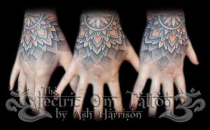 Dotwork Hand Tattoo 2013 by Ash-Harrison