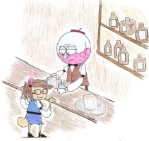 Saloon manager and bar maid by xXxDragonsHeartxXx
