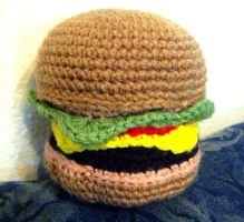 Crochet Cheeseburger by neonjello17