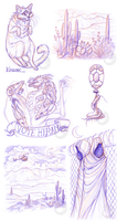 Night Vale Sketches by Simkaye