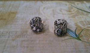 Steampunk Earring Studs by bcainspirations