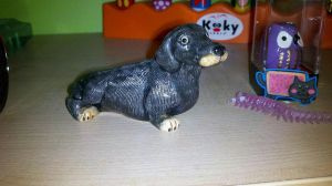 Hand Painted Doxie by labramazing