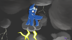 Request: Thunder on a cloud by Fluttair