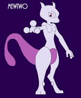 Mewtwo by Zombiehorse2