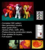 My Little Pony plushie pattern - CMC - tutorial by Oblitor