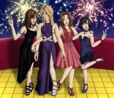 FF7 - Girls' Night Out by Myst-the-Wicked
