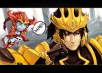 LOL - Shyvana And Jarvan by beanbean1988