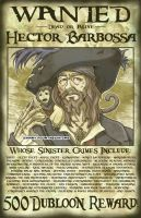 Wanted - Hector Barbossa by zimmay