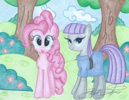 Two Happy Sisters by Jackie00Liza