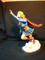 Supergirl statue. modern by Leebea