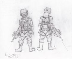Mercenary Soldier Sketch by Typical-Mental