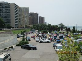 over view of the car show. by catsvsfox