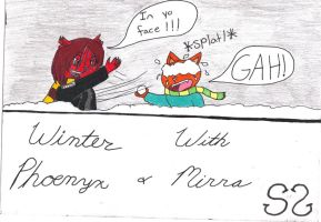 Winter with Phoenyx and Mirra by Zs99