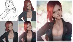 League of Legends Katarina Progress by magion02