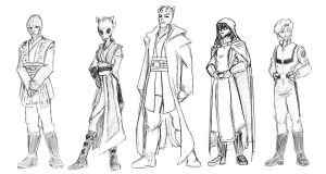 Jedi Characters by EmeraldBeacon