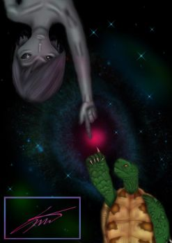 Alien and Turtle by Sebthy