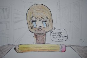 lisa isnt over her pencil by bluelippedbrelly