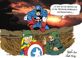 Rat-man vs Sturmtruppen vs CAP by FaGian