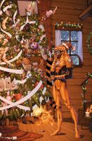 Larfleeze Christmas by drewdown1976
