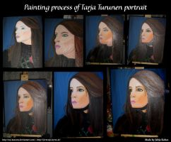 Painting process of Tarja by LadyRafira