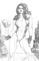 She Hulk Pencilslores by JenBroomall