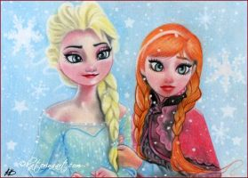 Frozen Sisters by Katerina-Art
