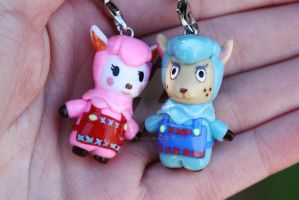 Animal Crossing: New Leaf Reese and Cyrus Charms by thearctisticfox