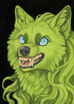 Green Grin by Shadow-Wolf