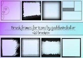 Frame Brushes for Icons by geekluvinskater