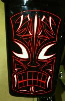 Tiki Pinstriped Saddel bag by HotRodJen