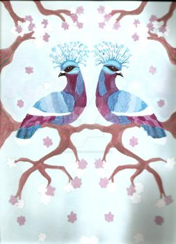 Victoria Crowned Pigeons by MaryOfExeter
