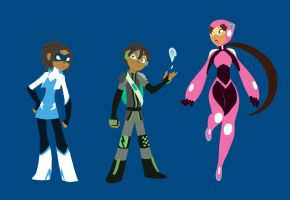 Some supersuit designs by ActionKiddy