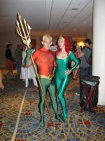 DragonCon '12 - AquaMan and Queen Atlanna by vincent-h-nguyen