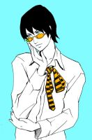 blue n yellow,boy with glasses by Verric