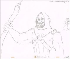 Original He-Man production cel drawing by AnimationValley